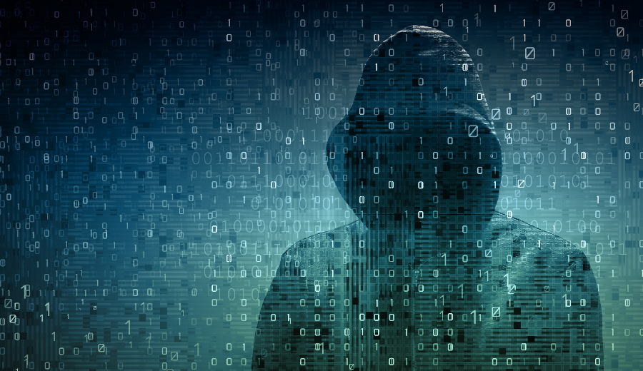 Hacker vor Zahlen