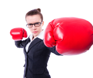 Woman with boxing gloves, Boxhandschuhe, Female Leader