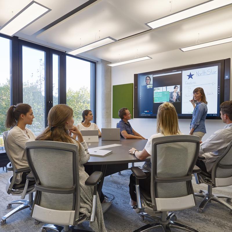 Microsoft - Unternehmenszentrale in Schwabing – Share & Discuss Workspace Unternehmenszentrale in Schwabing